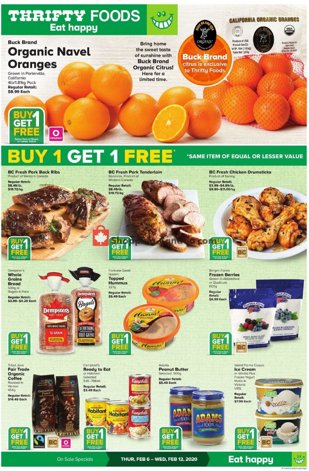 Flyer Thrifty Foods Canada - from Thursday February 6, 2020 to Wednesday February 12, 2020