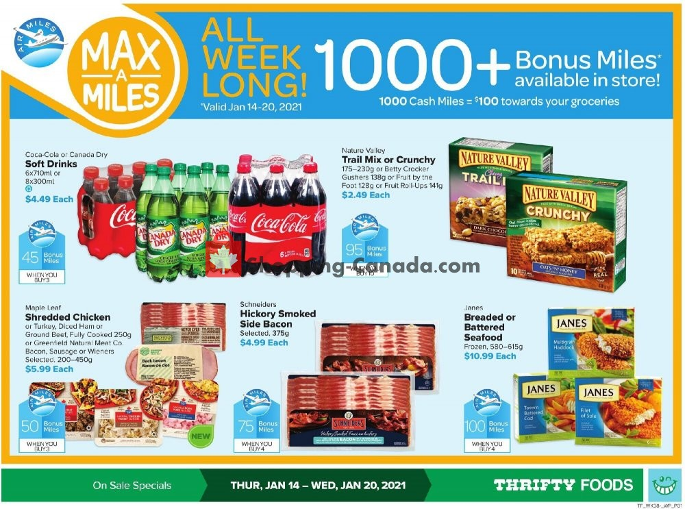 Flyer Thrifty Foods Canada - from Thursday January 14, 2021 to Wednesday January 20, 2021