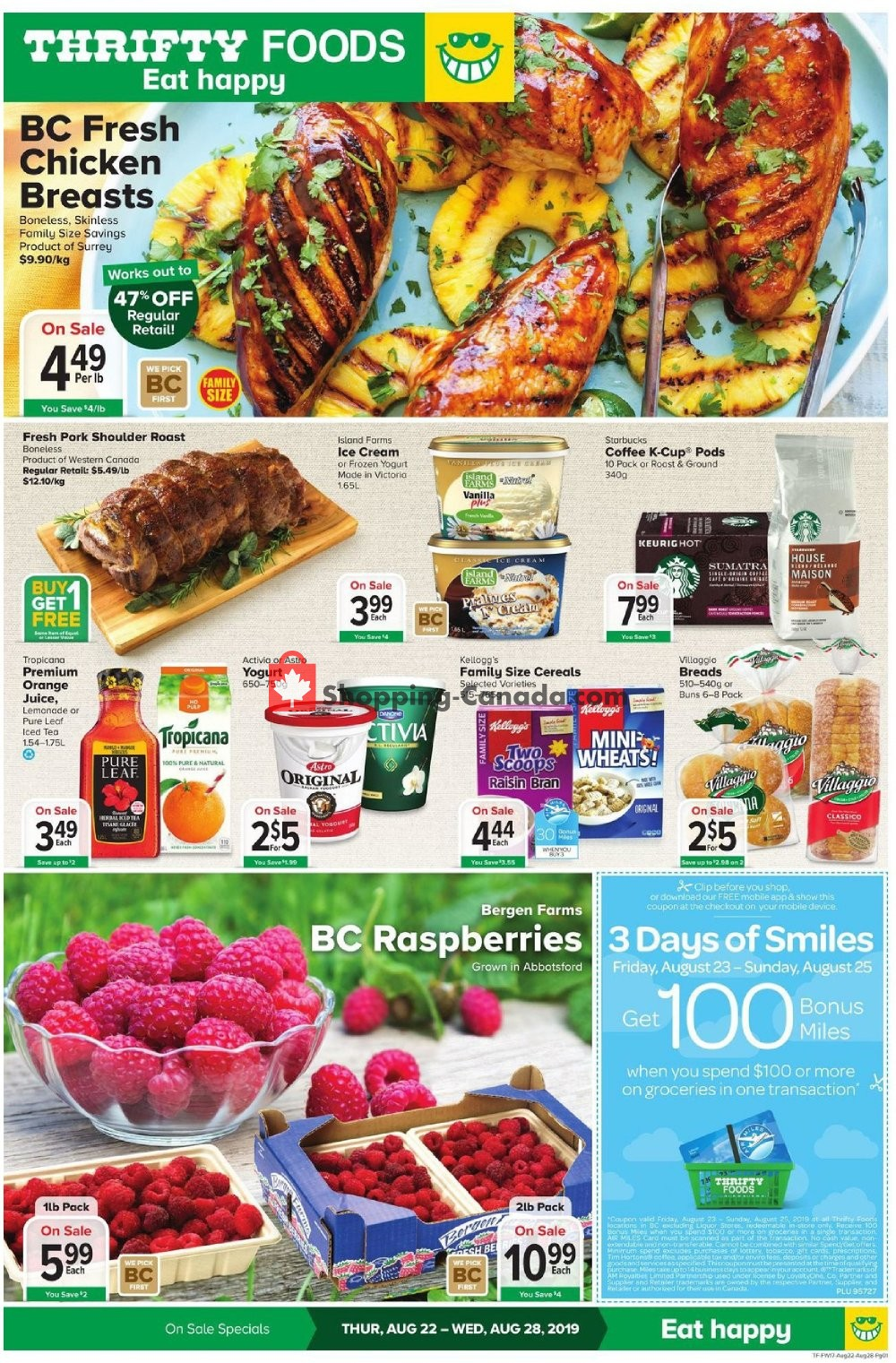 Flyer Thrifty Foods Canada - from Thursday August 22, 2019 to Wednesday August 28, 2019