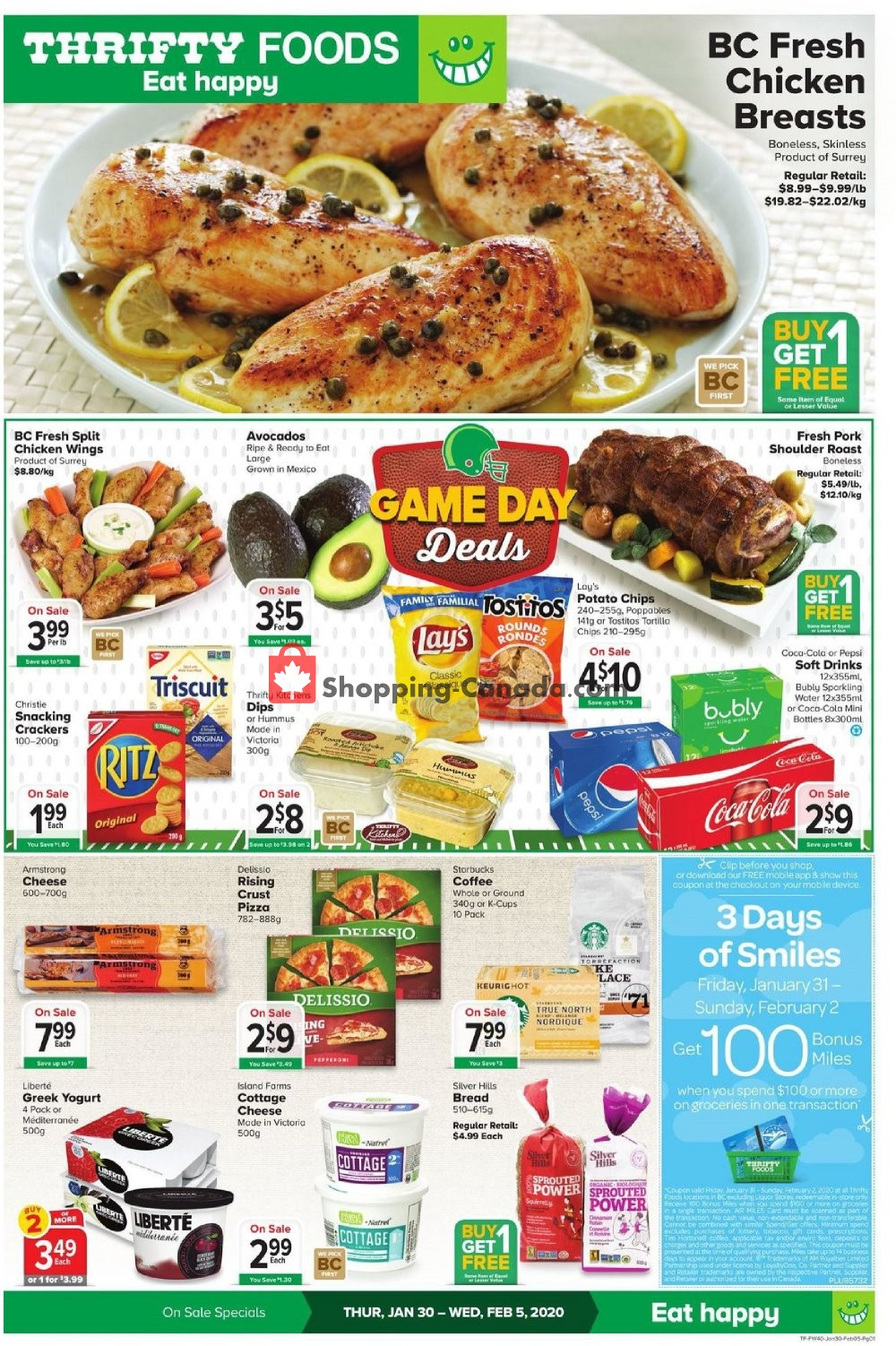 Flyer Thrifty Foods Canada - from Thursday January 30, 2020 to Wednesday February 5, 2020