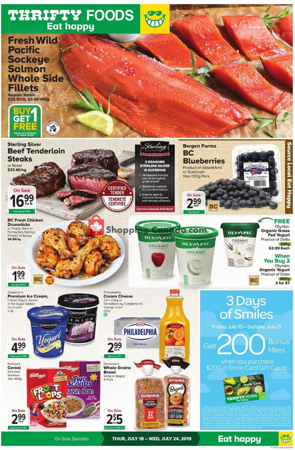 Flyer Thrifty Foods Canada - from Thursday July 18, 2019 to Wednesday July 24, 2019
