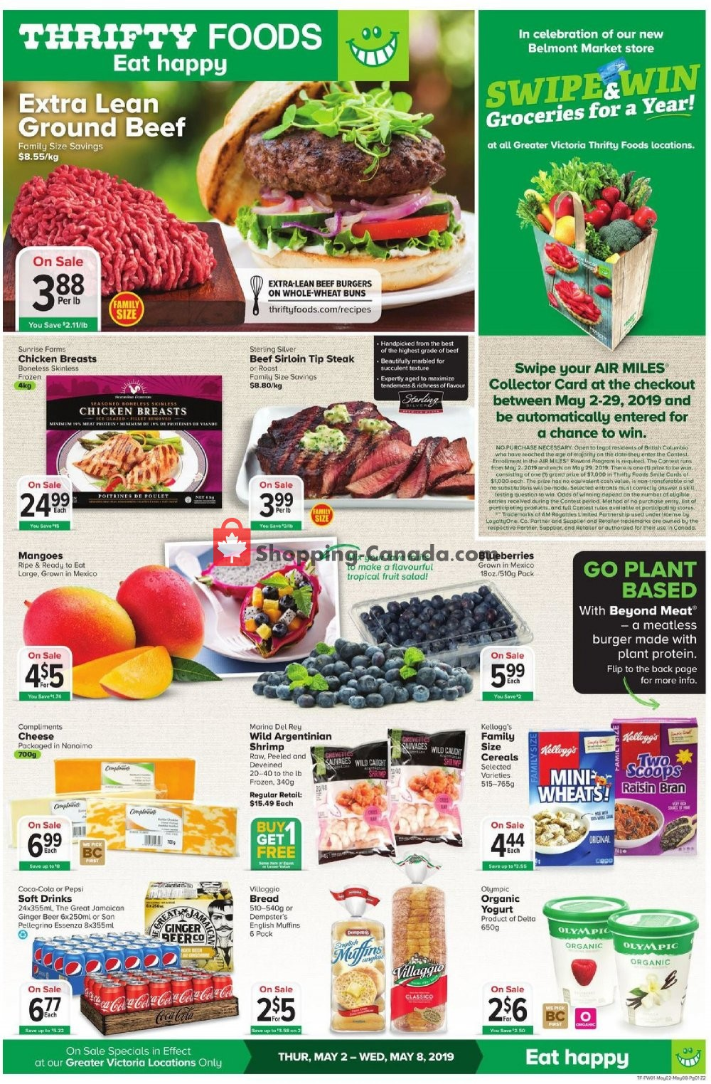 Flyer Thrifty Foods Canada - from Thursday May 2, 2019 to Wednesday May 8, 2019
