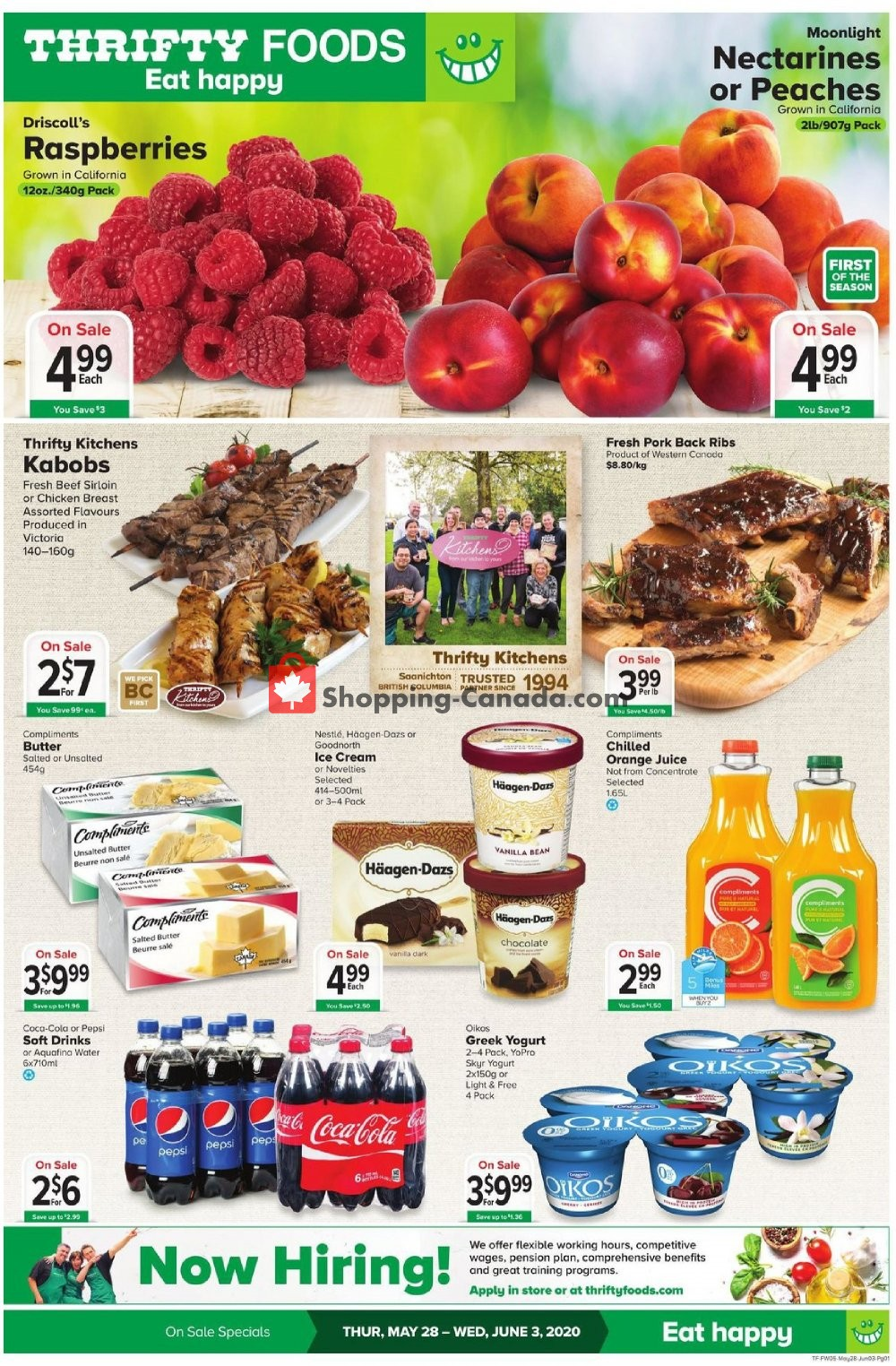 Flyer Thrifty Foods Canada - from Thursday May 28, 2020 to Wednesday June 3, 2020