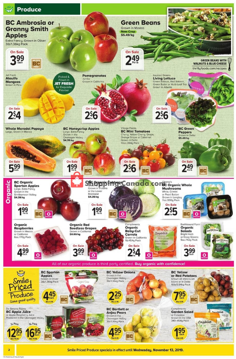 Flyer Thrifty Foods Canada - from Thursday November 7, 2019 to Wednesday November 13, 2019