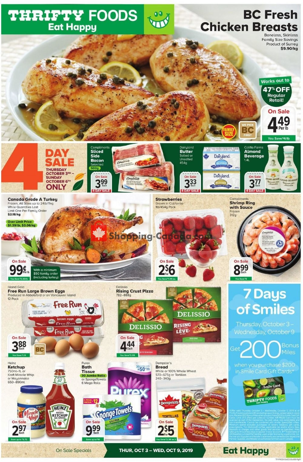 Flyer Thrifty Foods Canada - from Thursday October 3, 2019 to Wednesday October 9, 2019