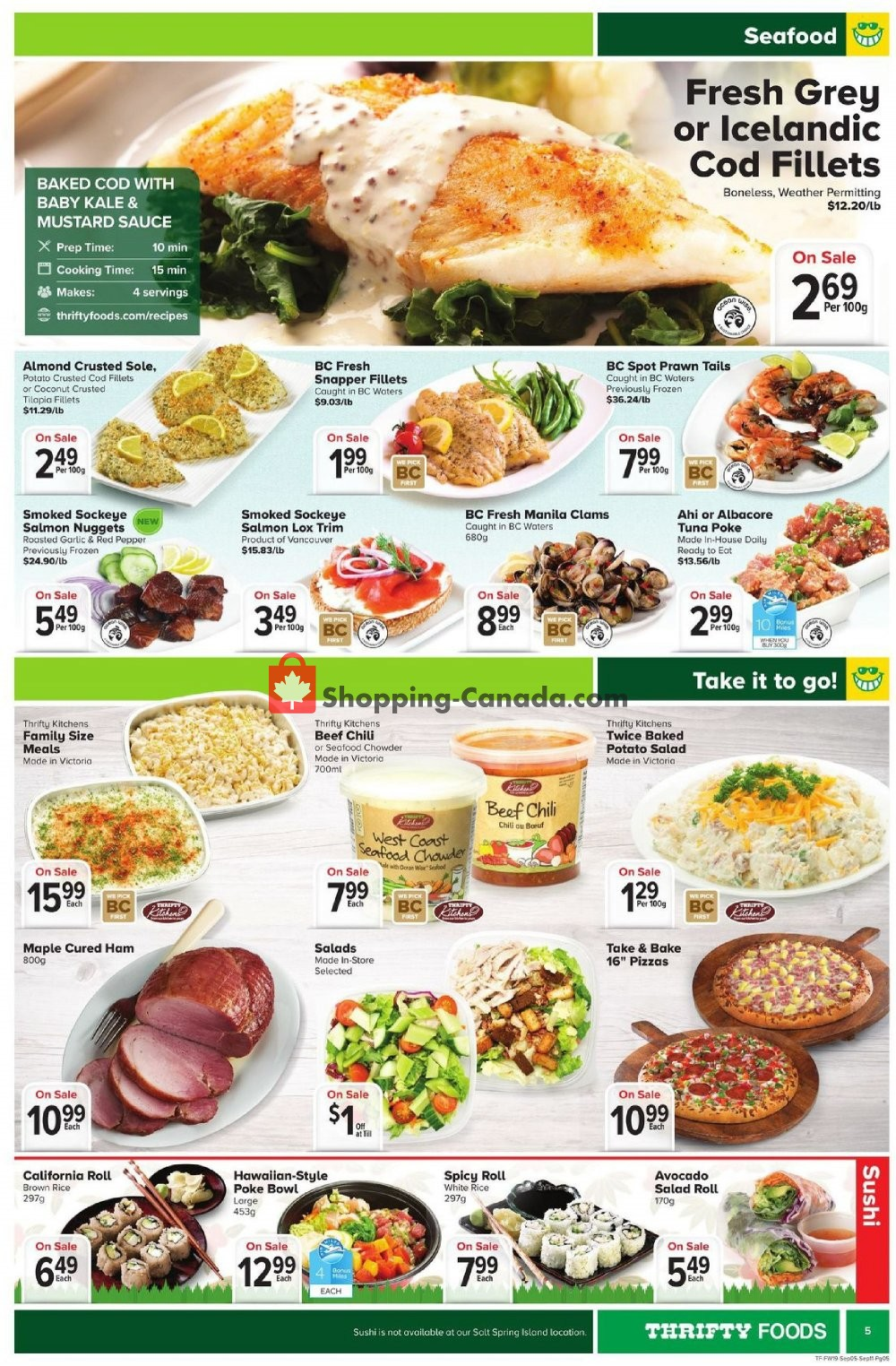 Flyer Thrifty Foods Canada - from Thursday September 5, 2019 to Wednesday September 11, 2019