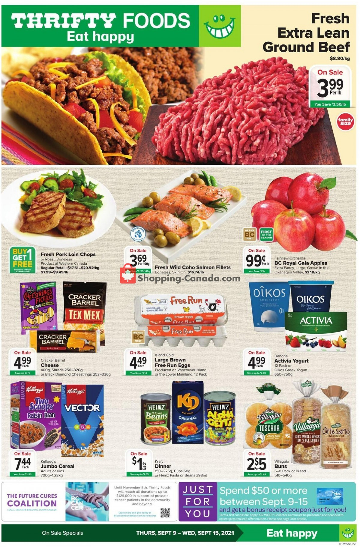 Flyer Thrifty Foods Canada - from Thursday September 9, 2021 to Wednesday September 15, 2021