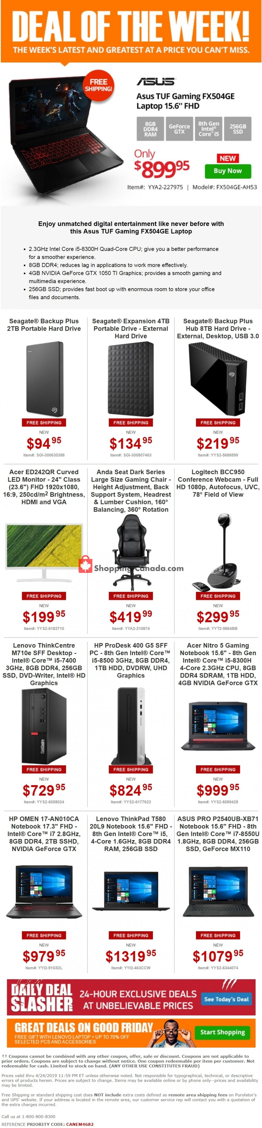 Flyer Tiger Direct Canada - from Monday April 22, 2019 to Wednesday April 24, 2019