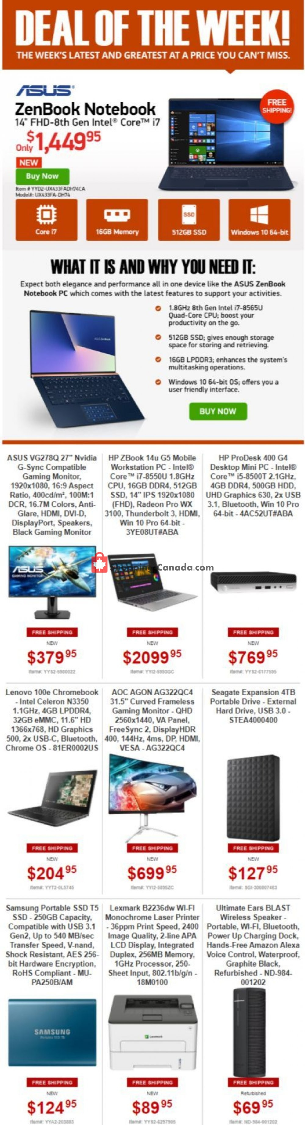 Flyer Tiger Direct Canada - from Monday July 1, 2019 to Sunday July 7, 2019