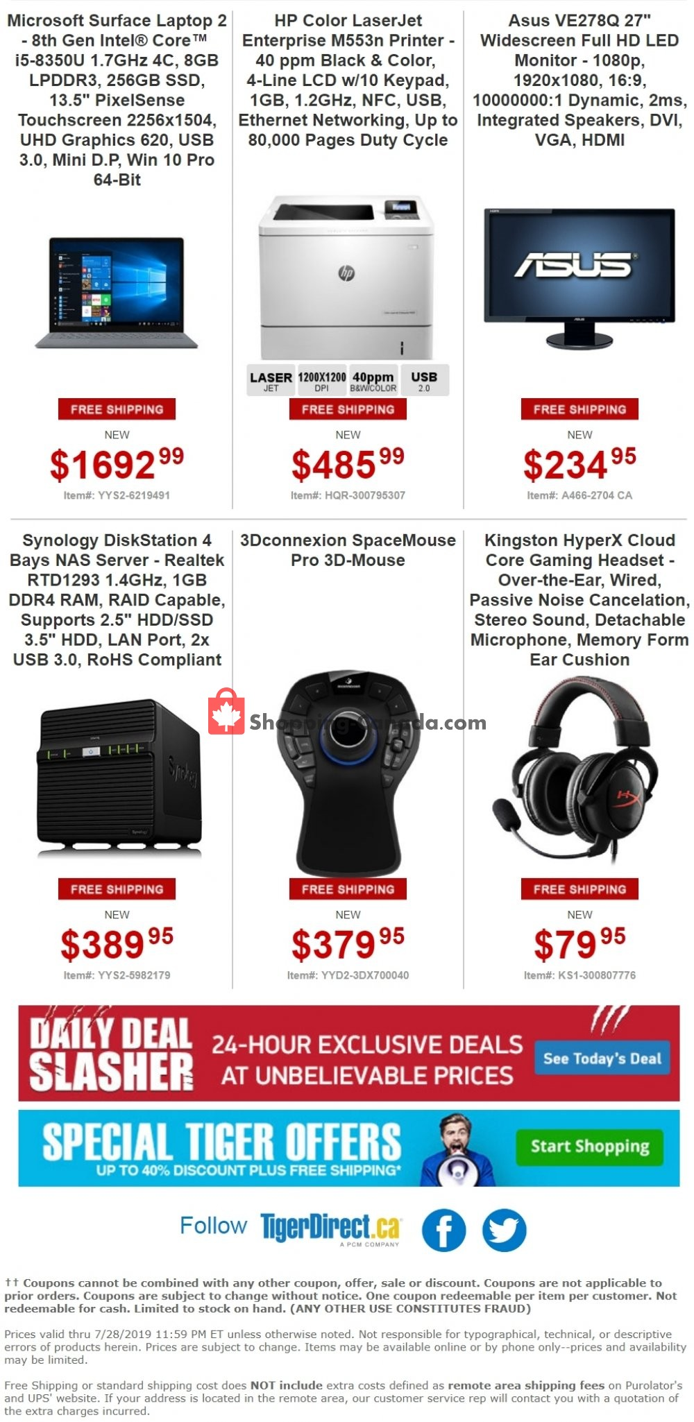 Flyer Tiger Direct Canada - from Monday July 22, 2019 to Sunday July 28, 2019