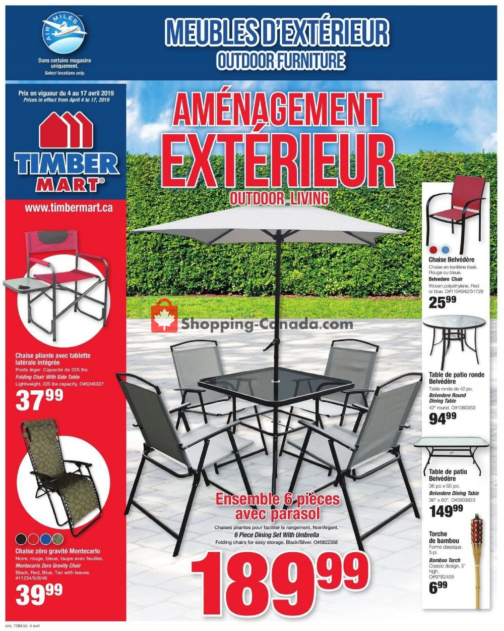 Flyer Timber Mart Canada - from Thursday April 4, 2019 to Wednesday April 17, 2019