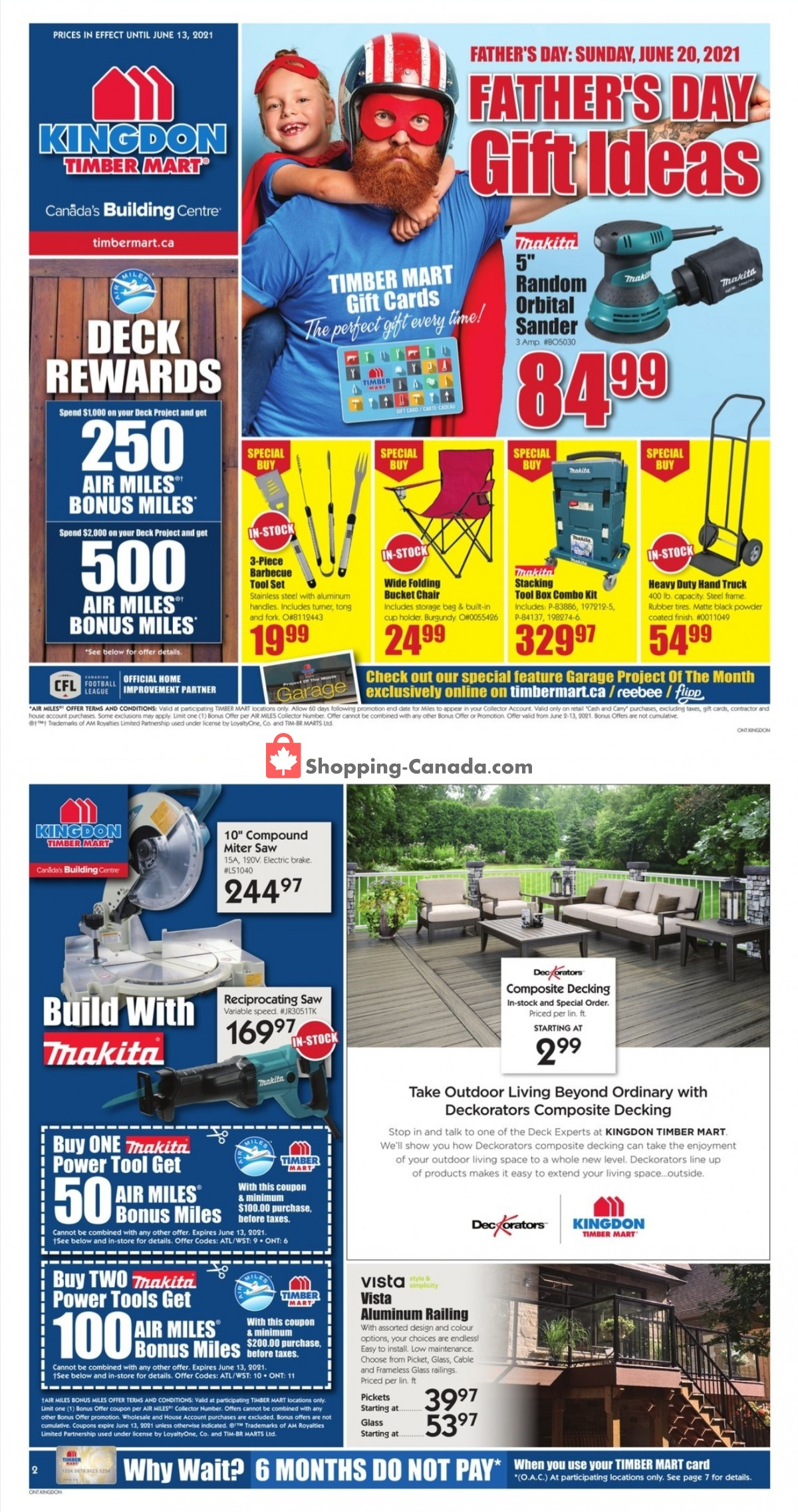 Flyer Timber Mart Canada - from Wednesday June 2, 2021 to Sunday June 13, 2021