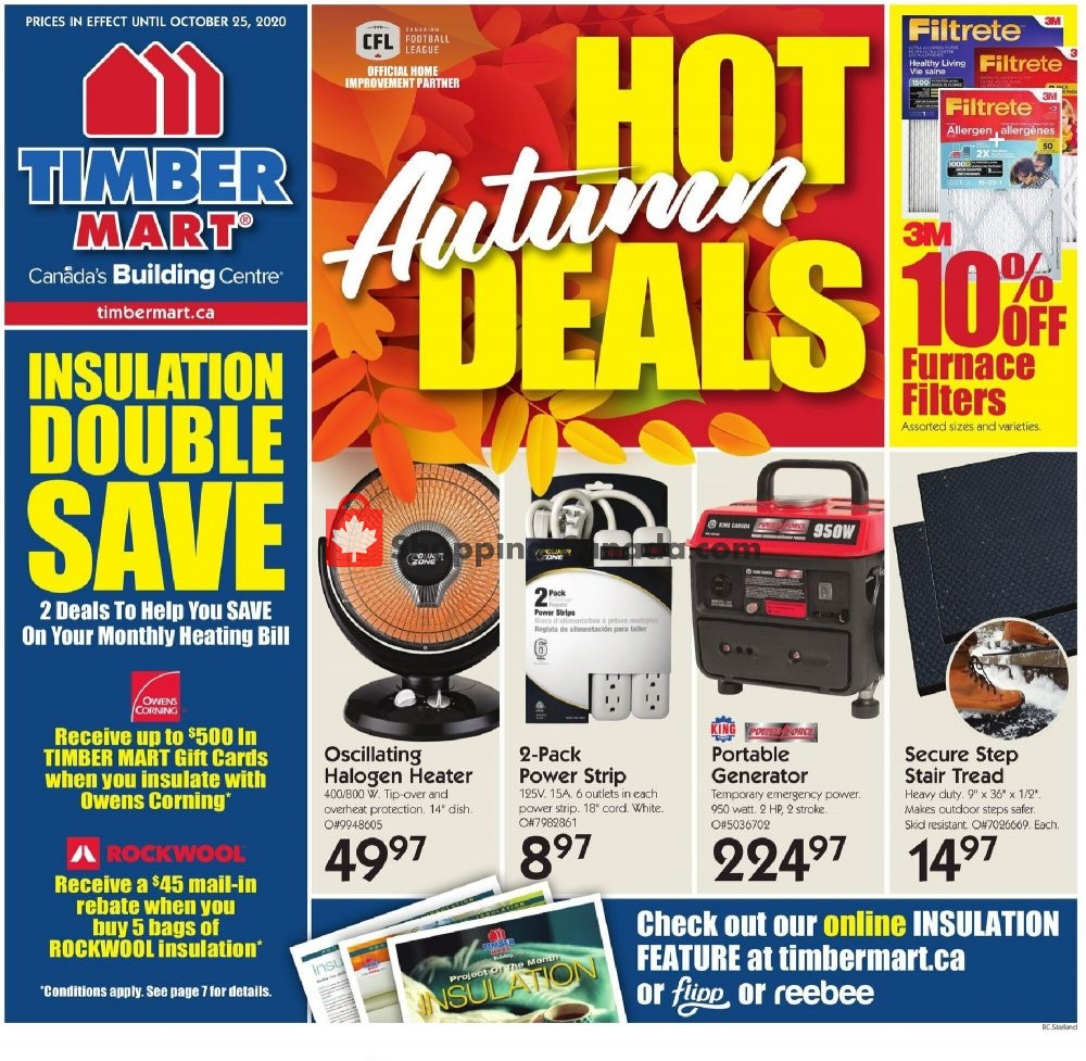 Flyer Timber Mart Canada - from Wednesday October 14, 2020 to Sunday October 25, 2020
