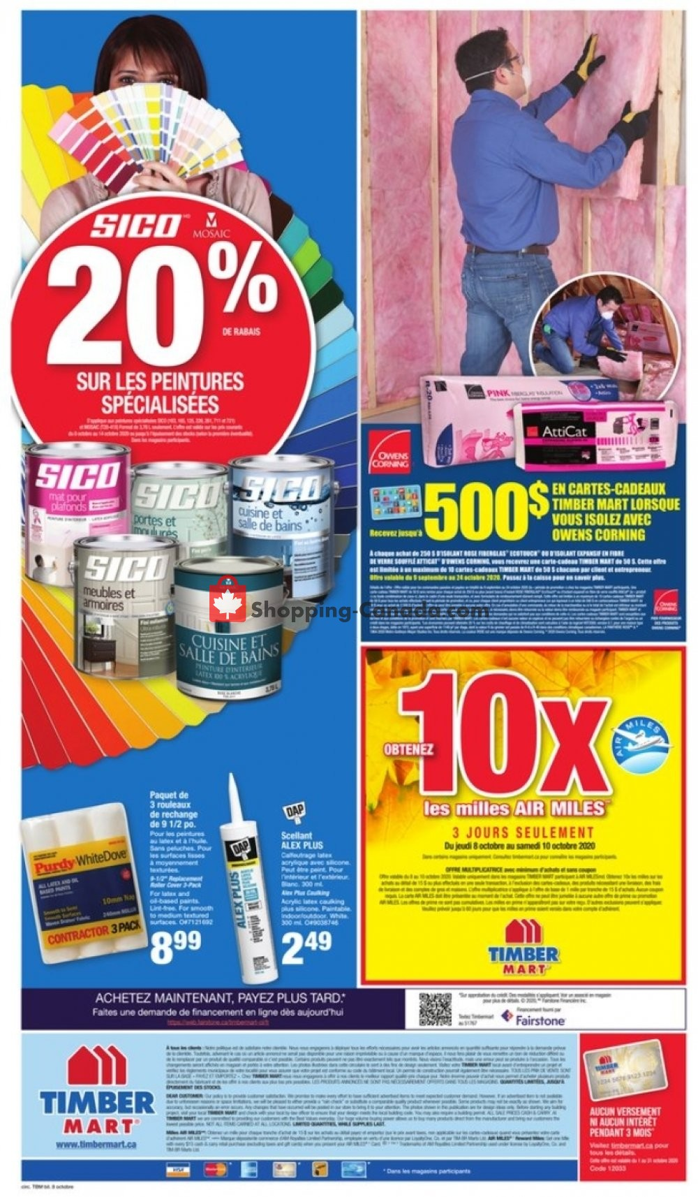 Flyer Timber Mart Canada - from Thursday October 8, 2020 to Wednesday October 14, 2020