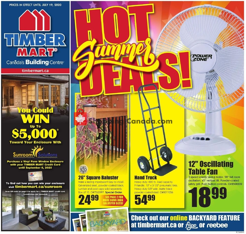 Flyer Timber Mart Canada - from Wednesday July 8, 2020 to Sunday July 19, 2020