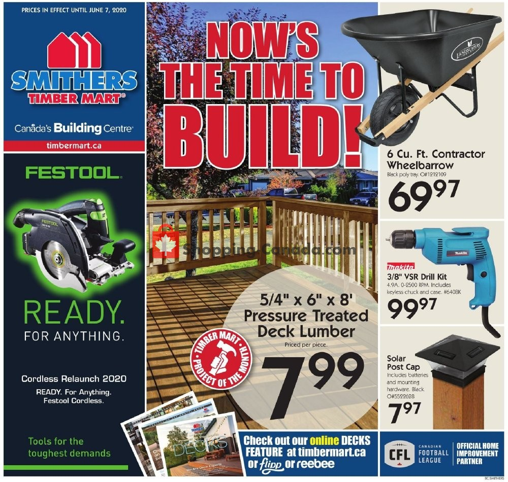 Flyer Timber Mart Canada - from Wednesday May 27, 2020 to Sunday June 7, 2020