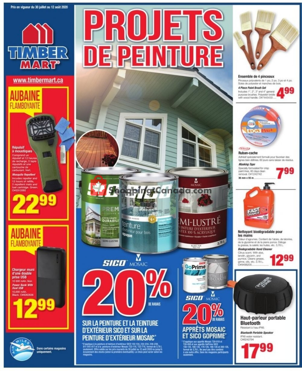 Flyer Timber Mart Canada - from Thursday July 30, 2020 to Wednesday August 12, 2020
