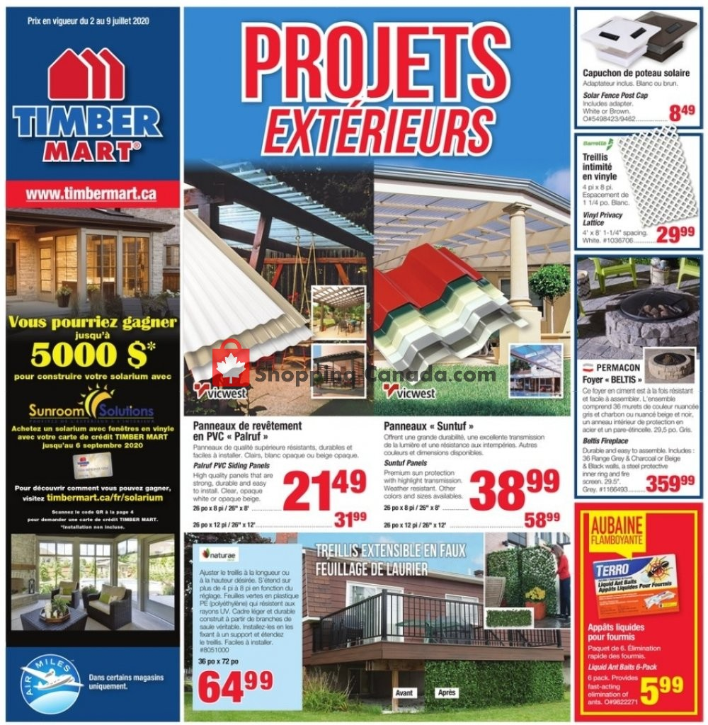 Flyer Timber Mart Canada - from Thursday July 2, 2020 to Thursday July 9, 2020