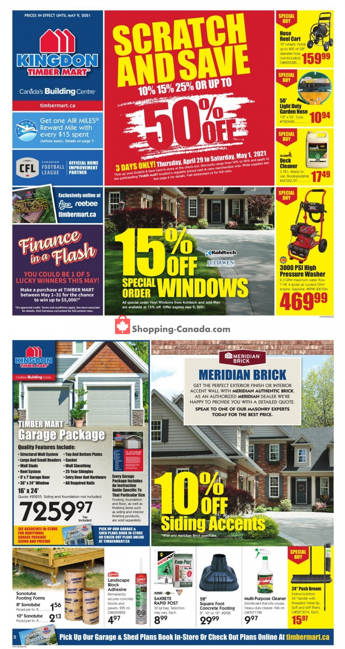 Flyer Timber Mart Canada - from Wednesday April 28, 2021 to Sunday May 9, 2021