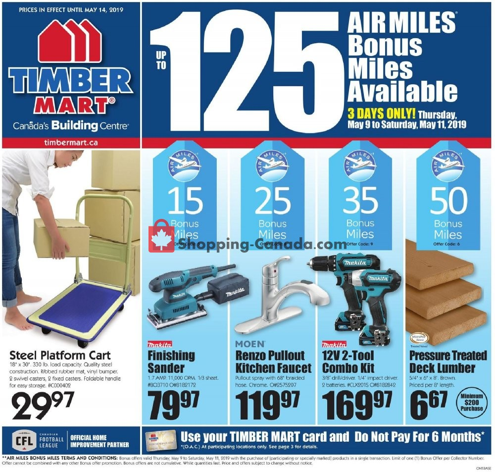 Flyer Timber Mart Canada - from Wednesday May 8, 2019 to Tuesday May 14, 2019