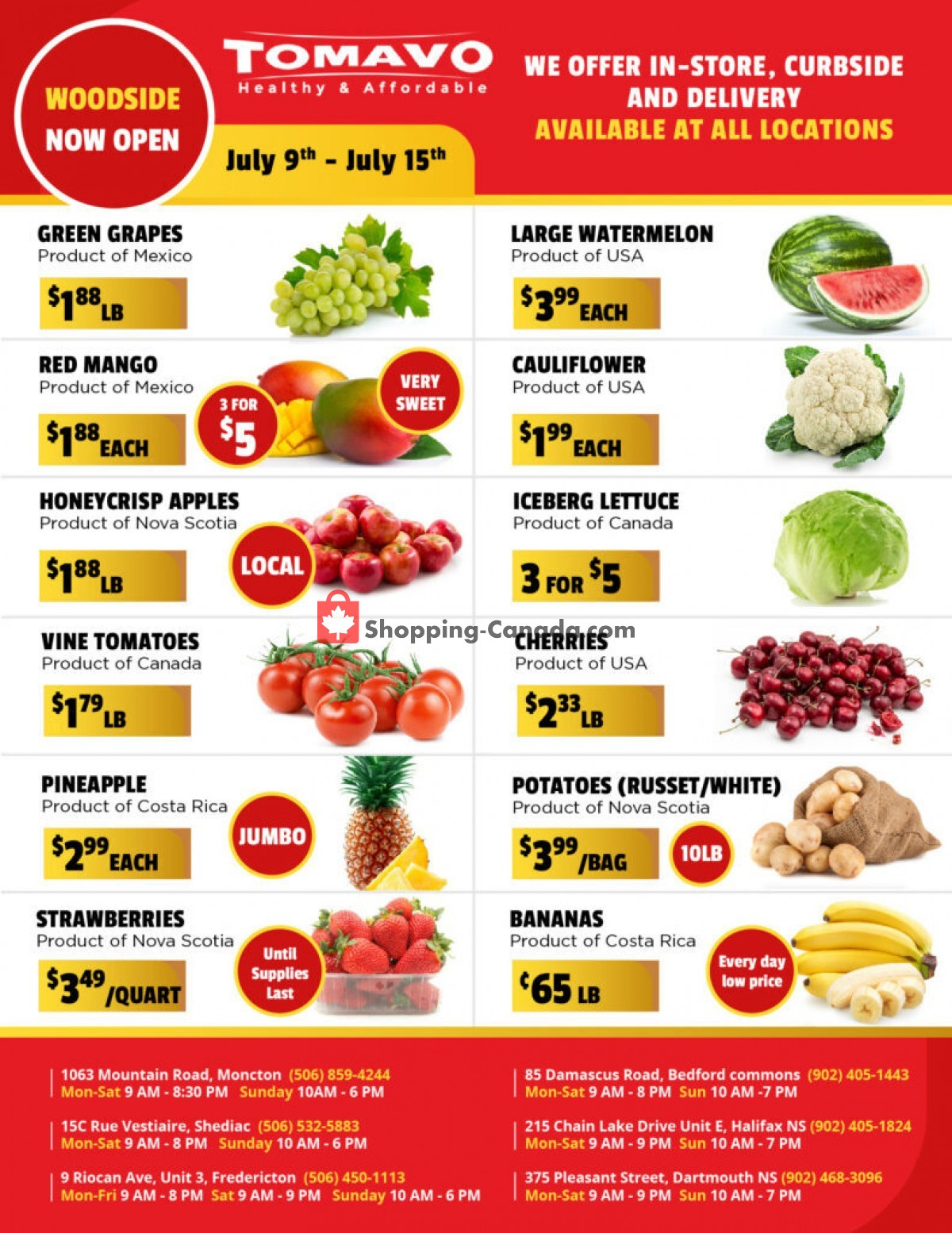 Flyer Tomavo Canada - from Friday July 9, 2021 to Thursday July 15, 2021