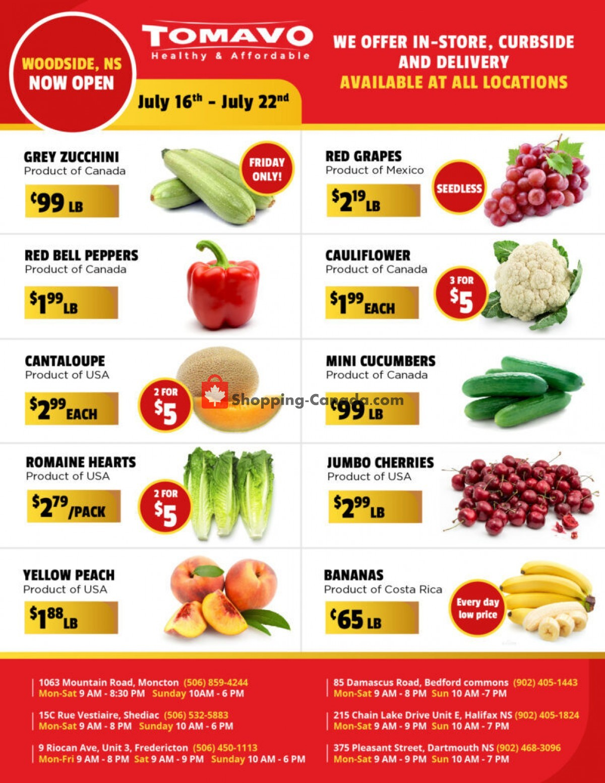 Flyer Tomavo Canada - from Friday July 16, 2021 to Thursday July 22, 2021