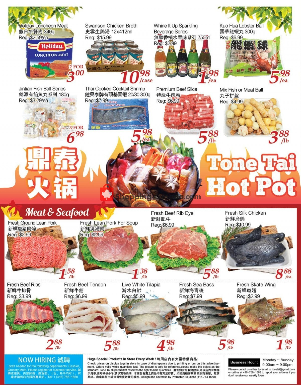 Flyer Tone Tai Supermarket Canada - from Friday April 2, 2021 to Thursday April 8, 2021