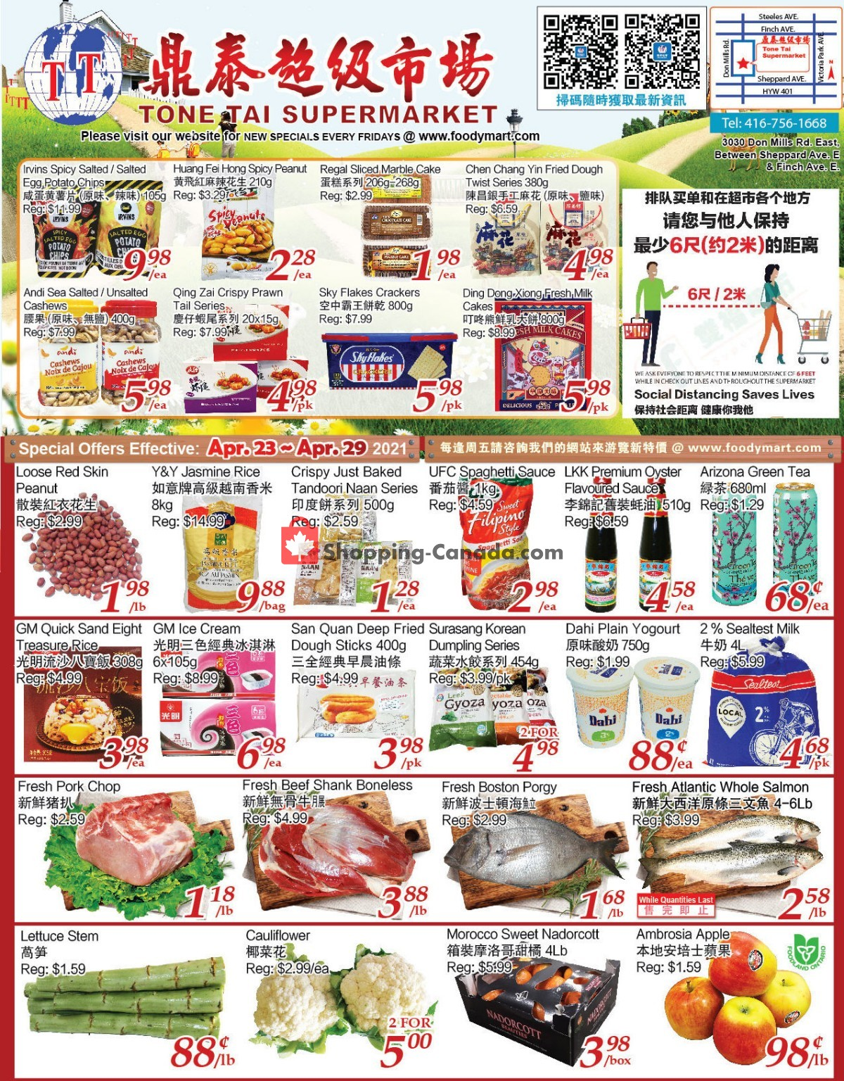 Flyer Tone Tai Supermarket Canada - from Friday April 23, 2021 to Thursday April 29, 2021
