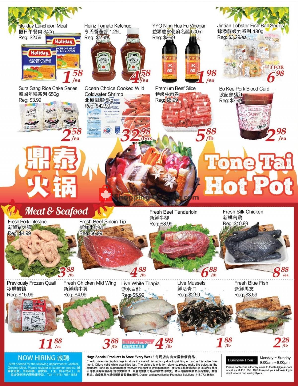 Flyer Tone Tai Supermarket Canada - from Friday April 30, 2021 to Thursday May 6, 2021