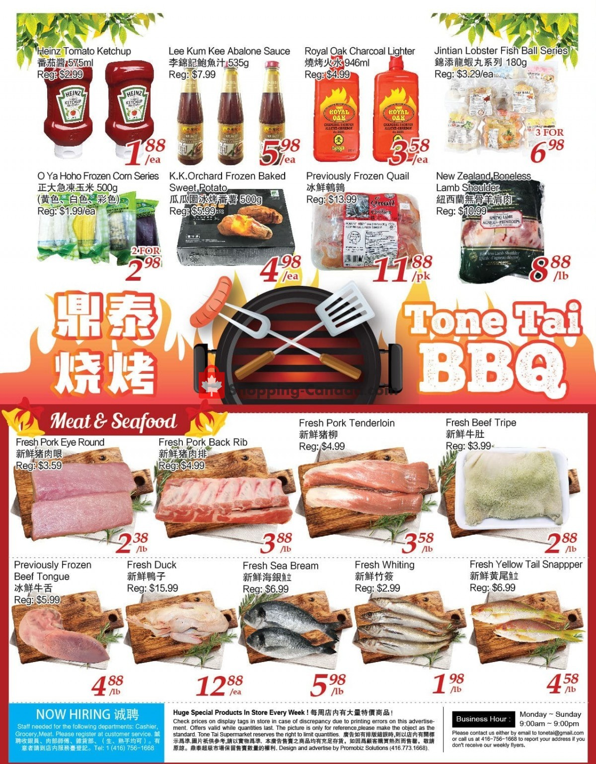 Flyer Tone Tai Supermarket Canada - from Friday July 9, 2021 to Thursday July 15, 2021