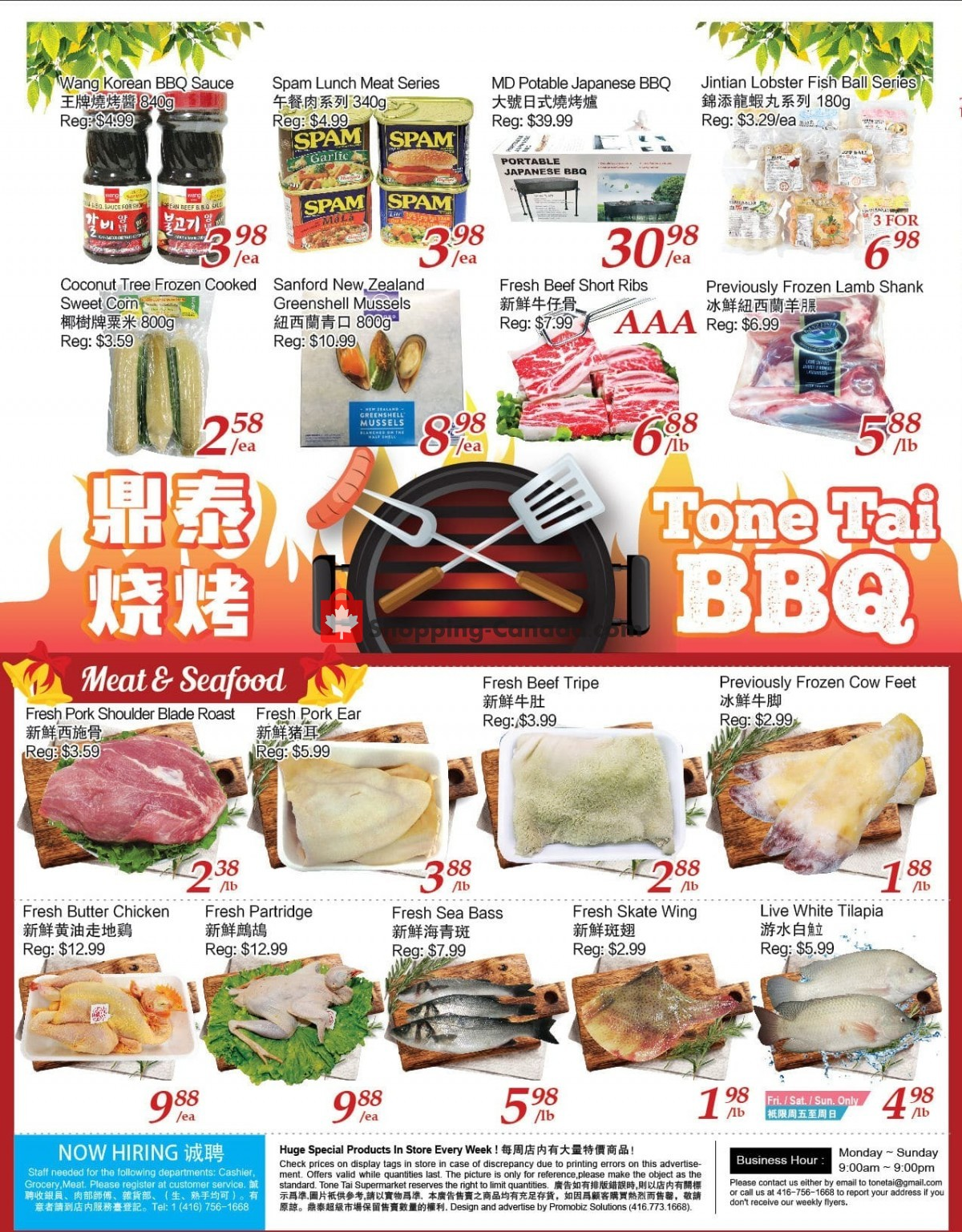 Flyer Tone Tai Supermarket Canada - from Friday June 4, 2021 to Thursday June 10, 2021