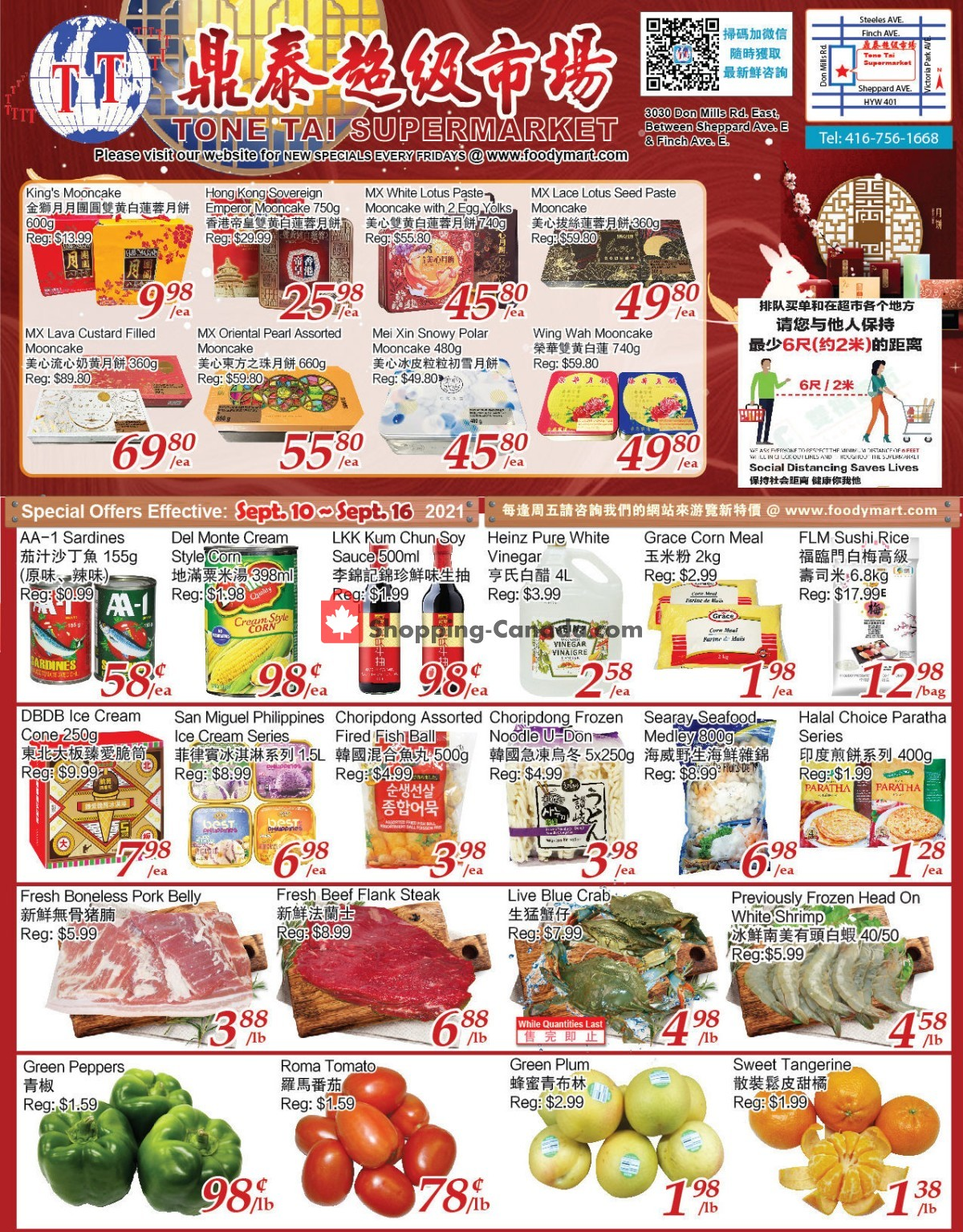 Flyer Tone Tai Supermarket Canada - from Friday September 10, 2021 to Thursday September 16, 2021