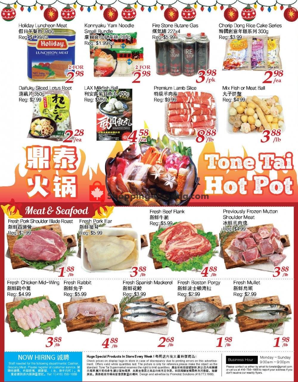 Flyer Tone Tai Supermarket Canada - from Friday January 15, 2021 to Thursday January 21, 2021