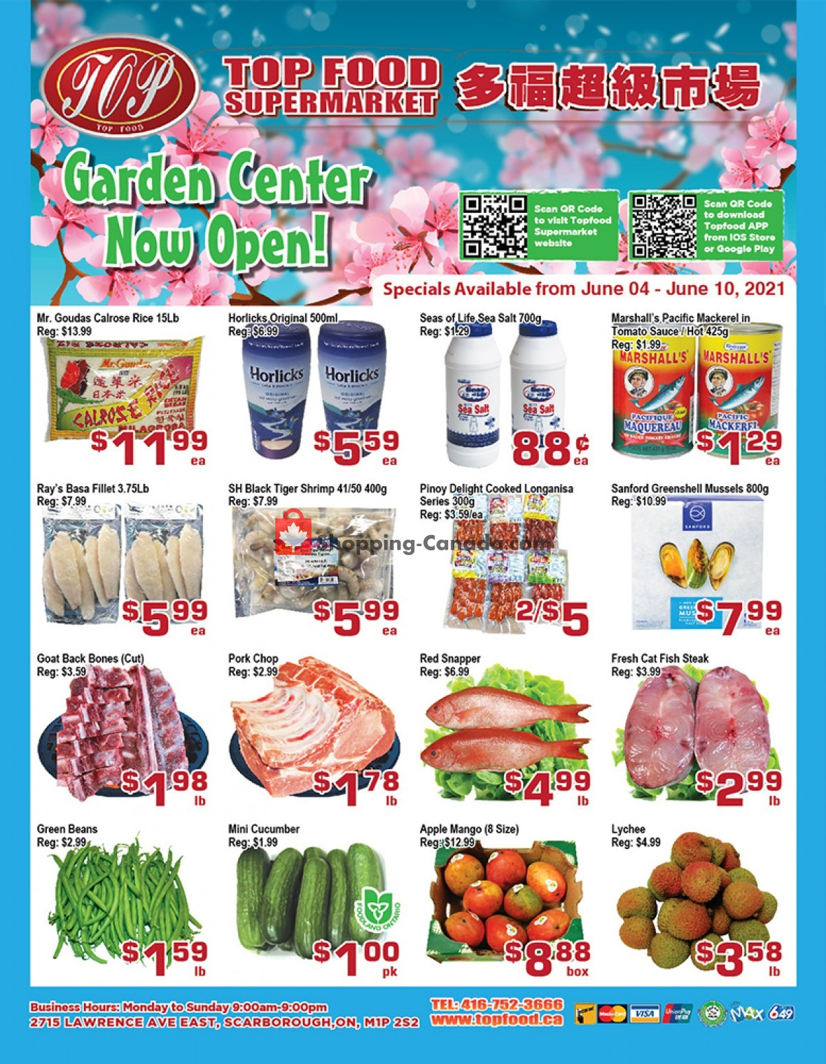 Flyer Top Food Canada - from Friday June 4, 2021 to Thursday June 10, 2021