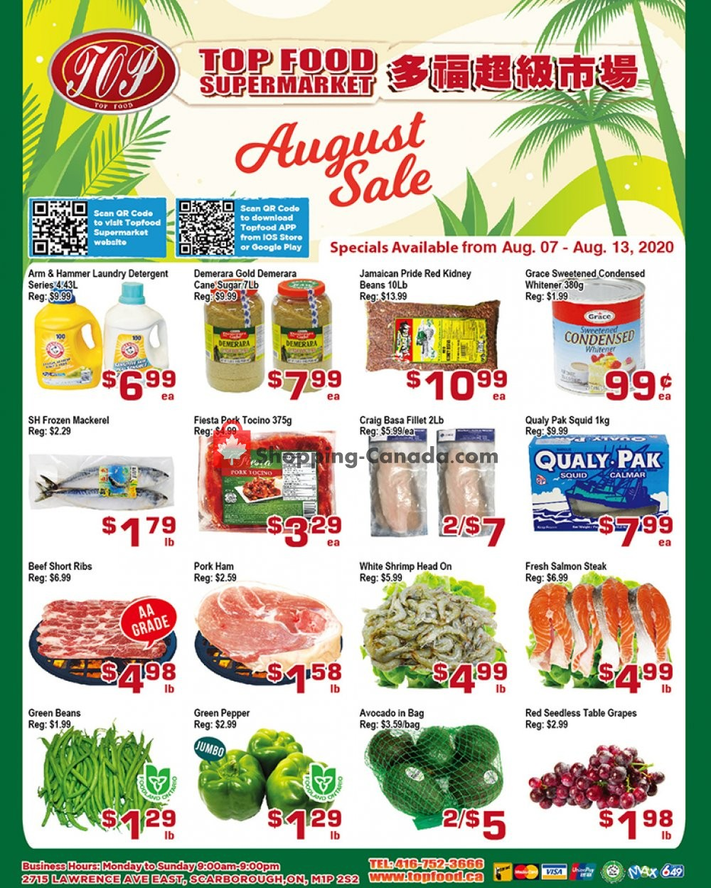 Flyer Top Food Canada - from Friday August 7, 2020 to Thursday August 13, 2020
