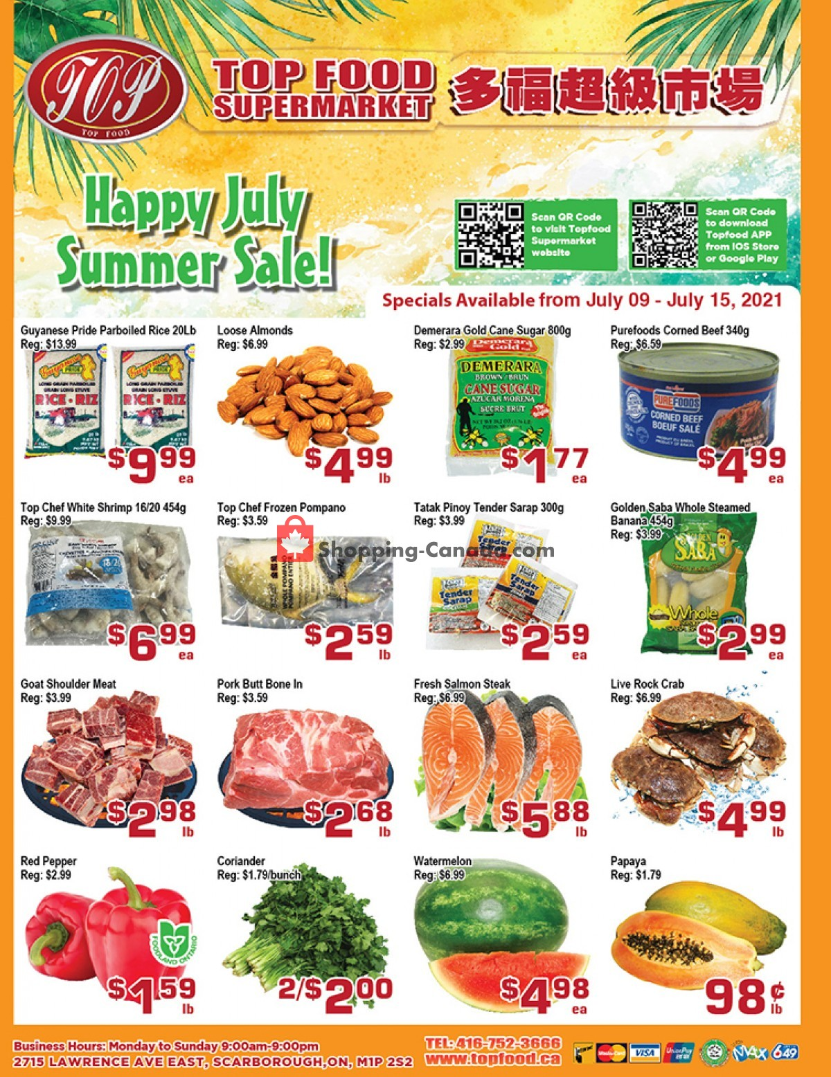 Flyer Top Food Canada - from Friday July 9, 2021 to Thursday July 15, 2021