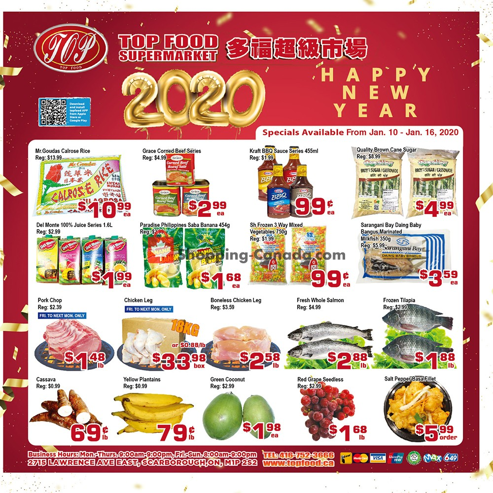 Flyer Top Food Canada - from Friday January 10, 2020 to Thursday January 16, 2020
