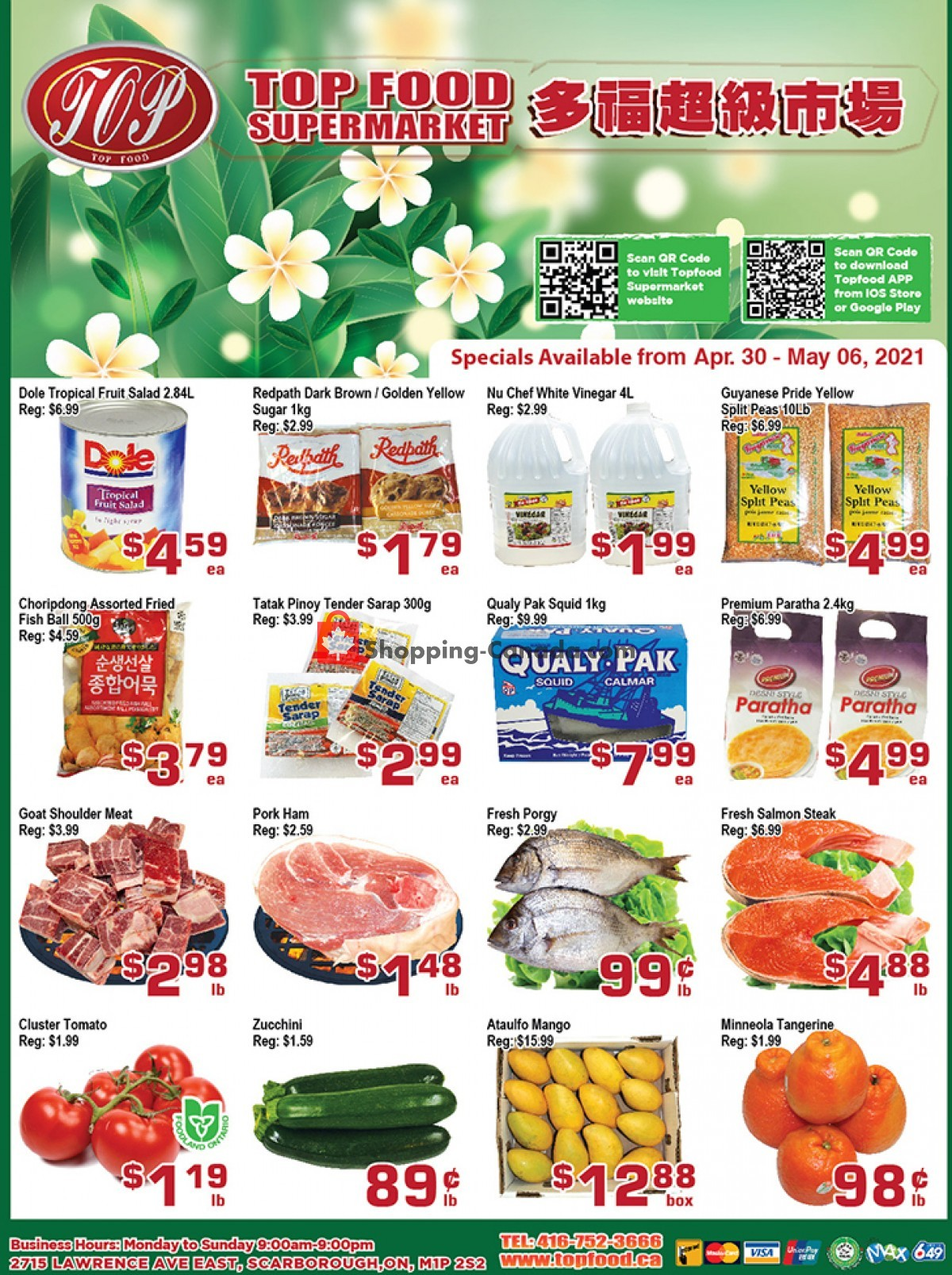 Flyer Top Food Canada - from Friday April 30, 2021 to Thursday May 6, 2021