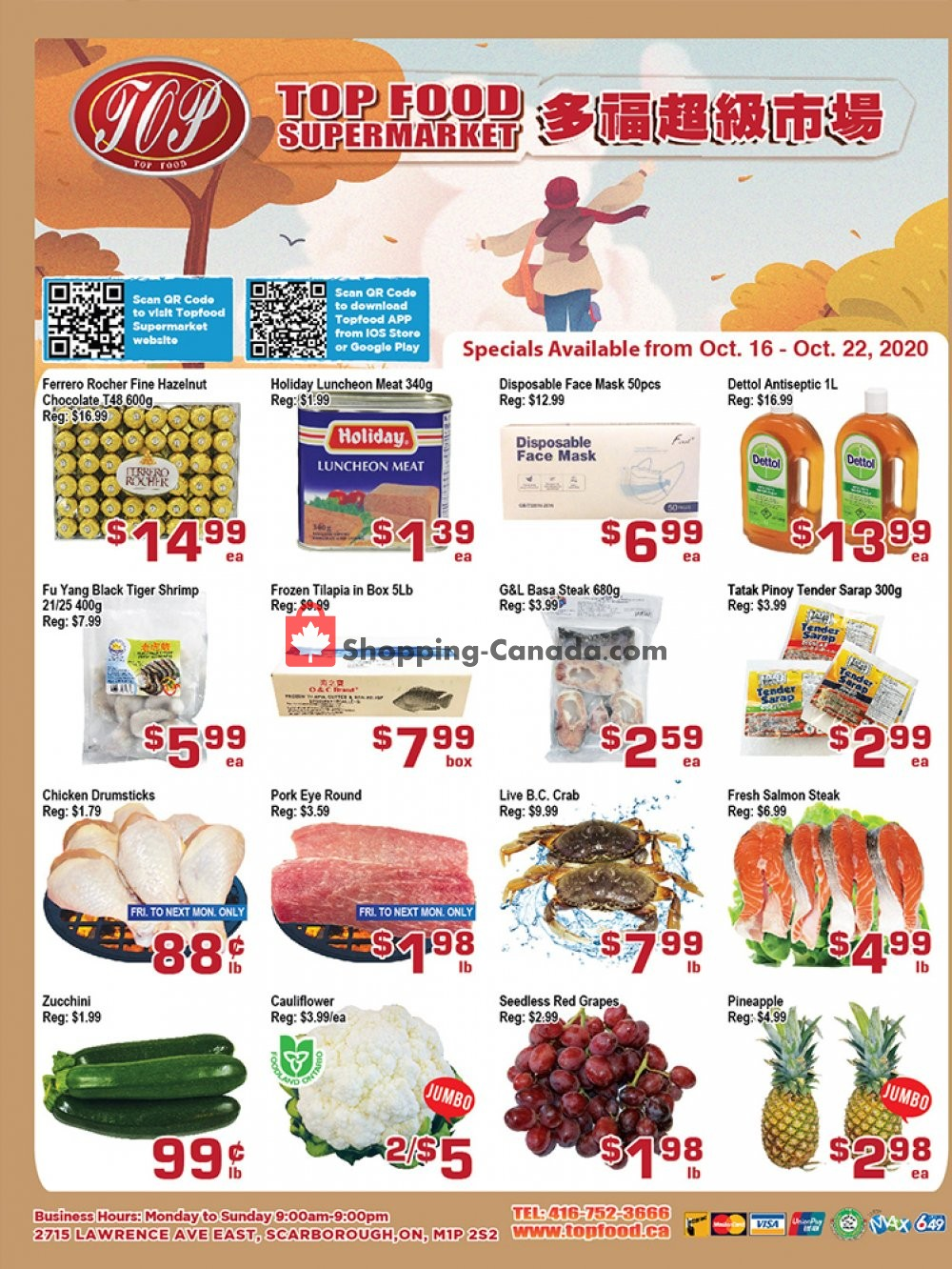 Flyer Top Food Canada - from Friday October 16, 2020 to Thursday October 22, 2020