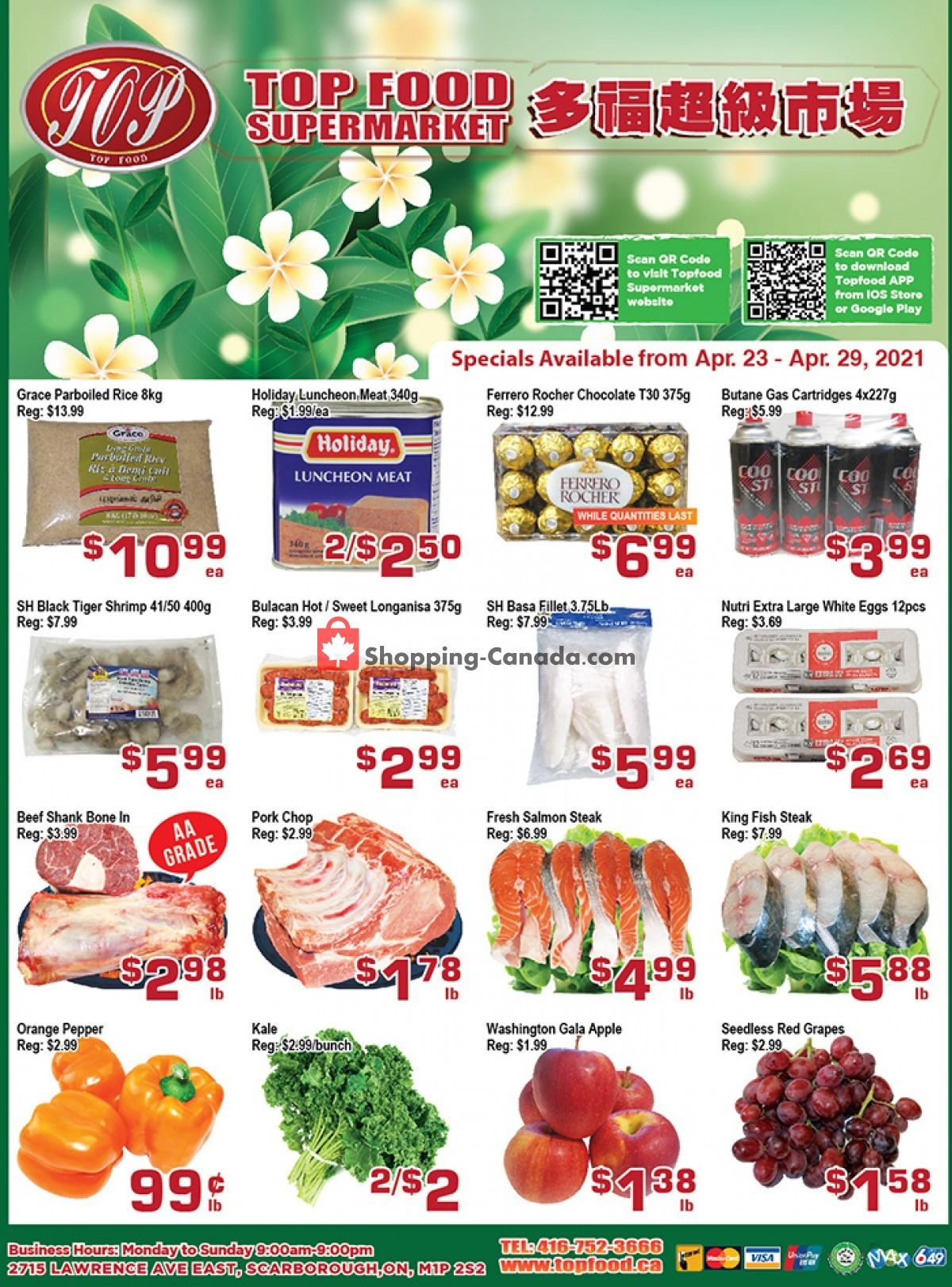 Flyer Top Food Canada - from Friday April 23, 2021 to Thursday April 29, 2021