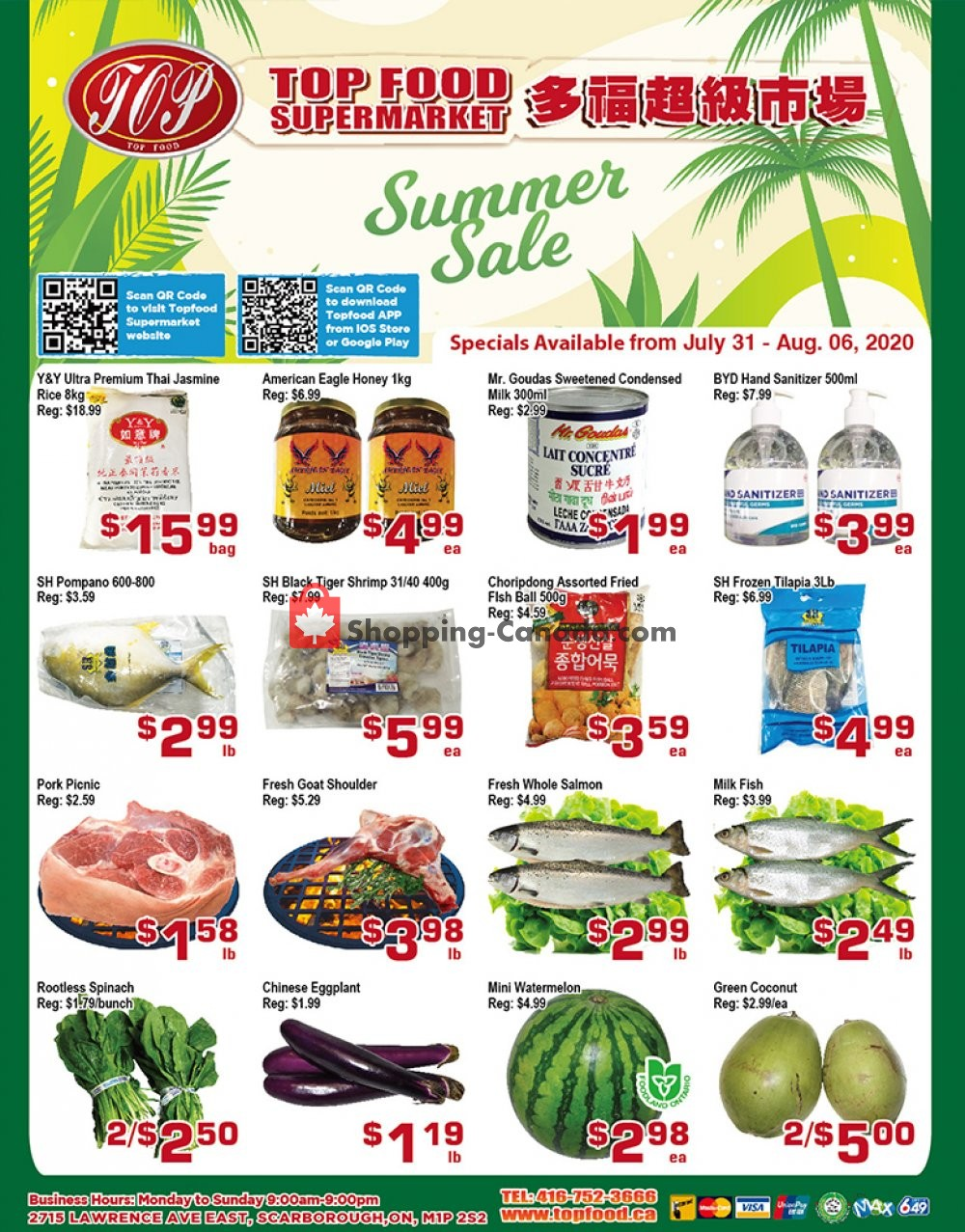 Flyer Top Food Canada - from Friday July 31, 2020 to Thursday August 6, 2020
