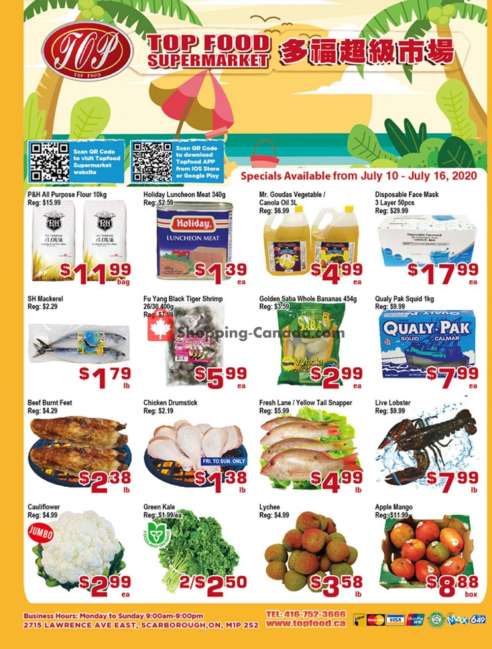 Flyer Top Food Canada - from Friday July 10, 2020 to Thursday July 16, 2020