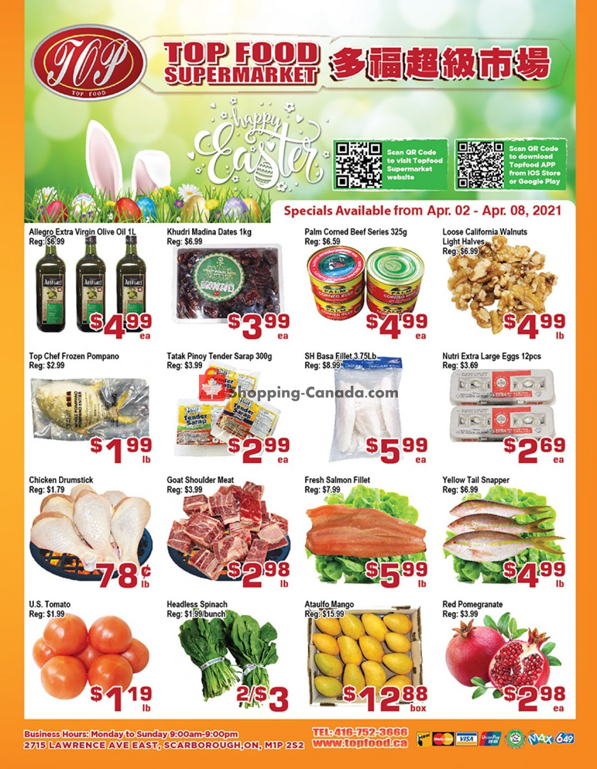 Flyer Top Food Canada - from Friday April 2, 2021 to Thursday April 8, 2021