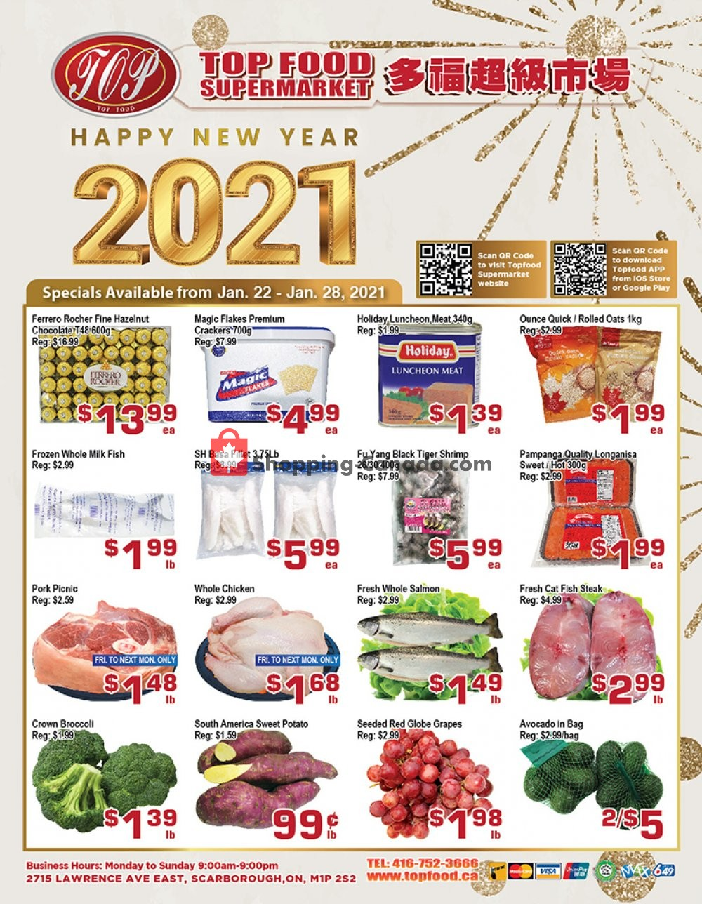 Flyer Top Food Canada - from Friday January 22, 2021 to Thursday January 28, 2021