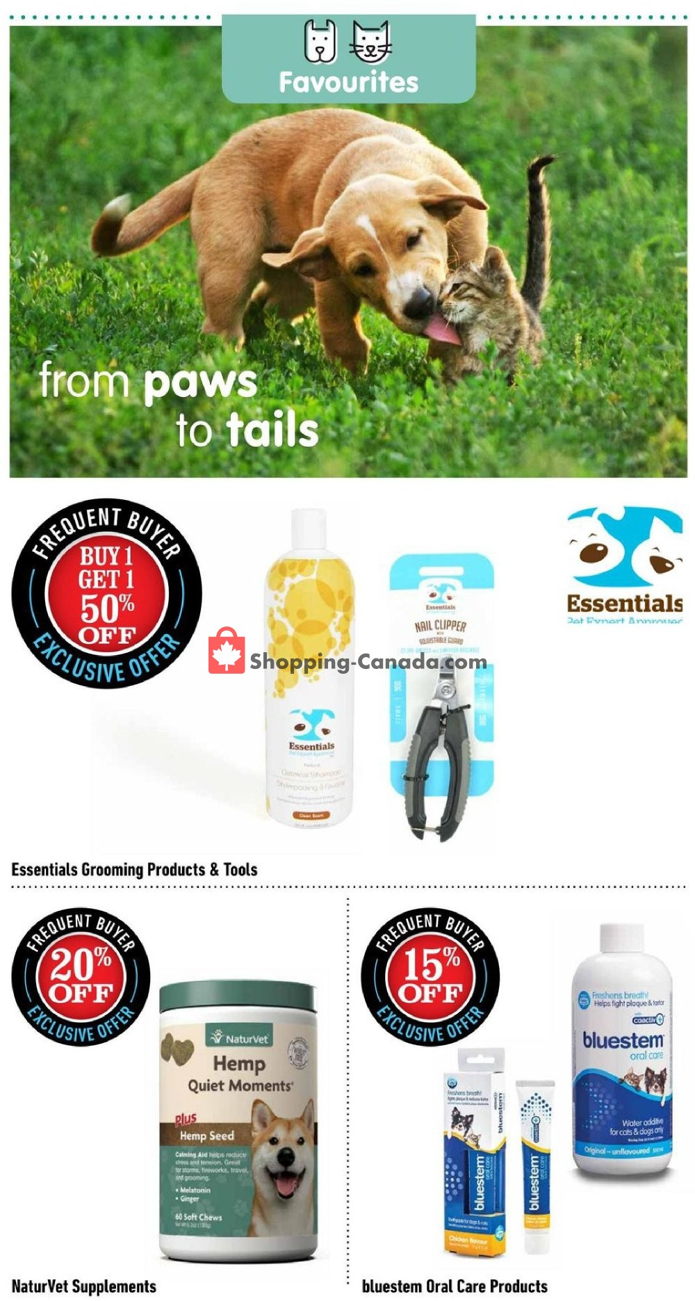 Flyer Total Pet Canada - from Monday August 12, 2019 to Wednesday September 4, 2019