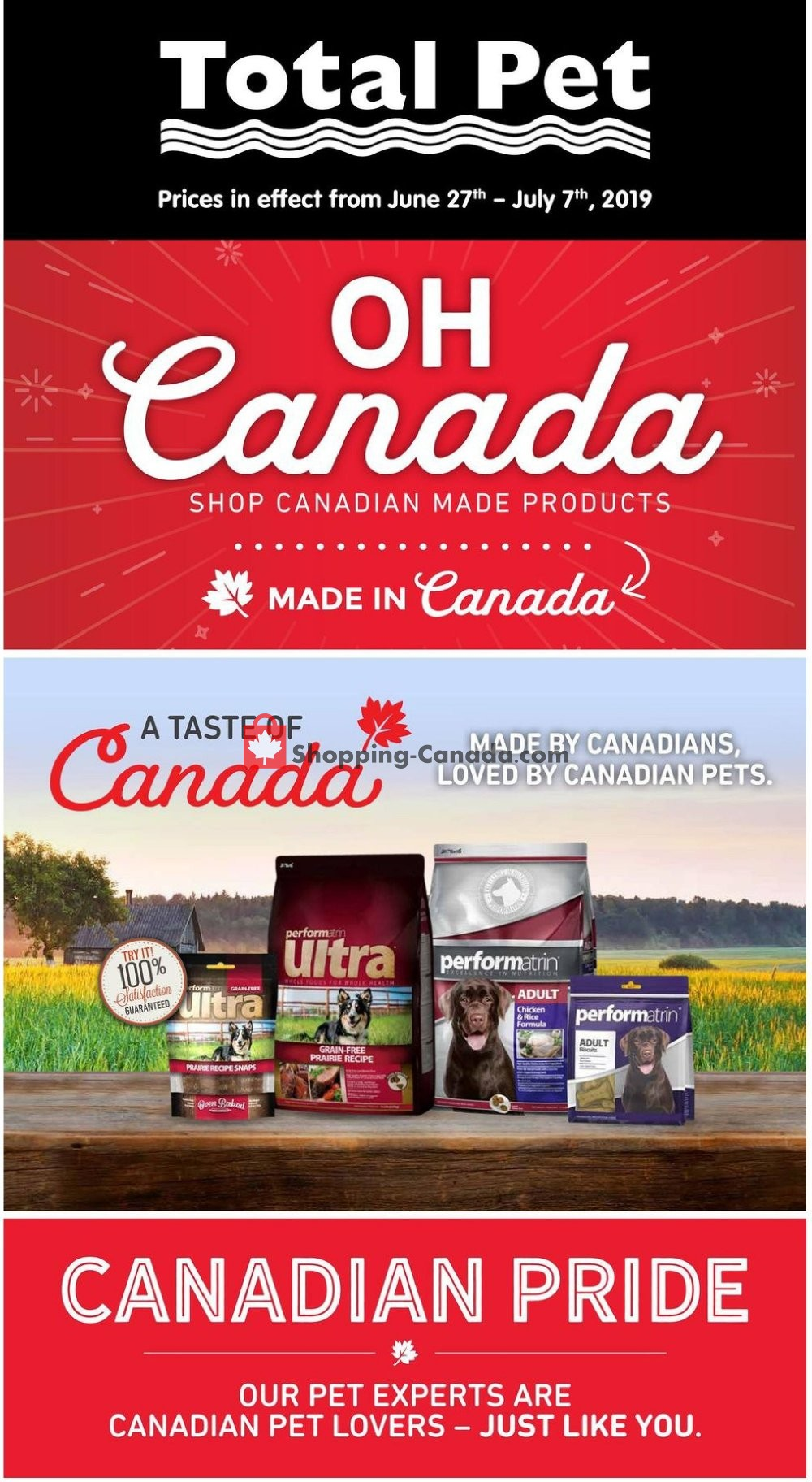 Flyer Total Pet Canada - from Thursday June 27, 2019 to Sunday July 7, 2019