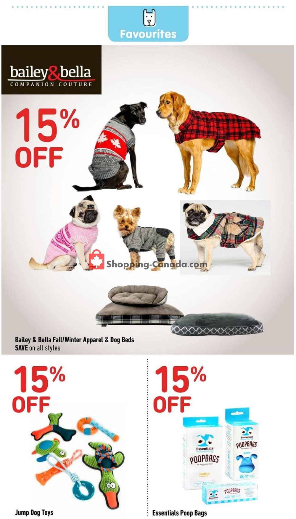 Flyer Total Pet Canada - from Thursday September 5, 2019 to Sunday September 15, 2019