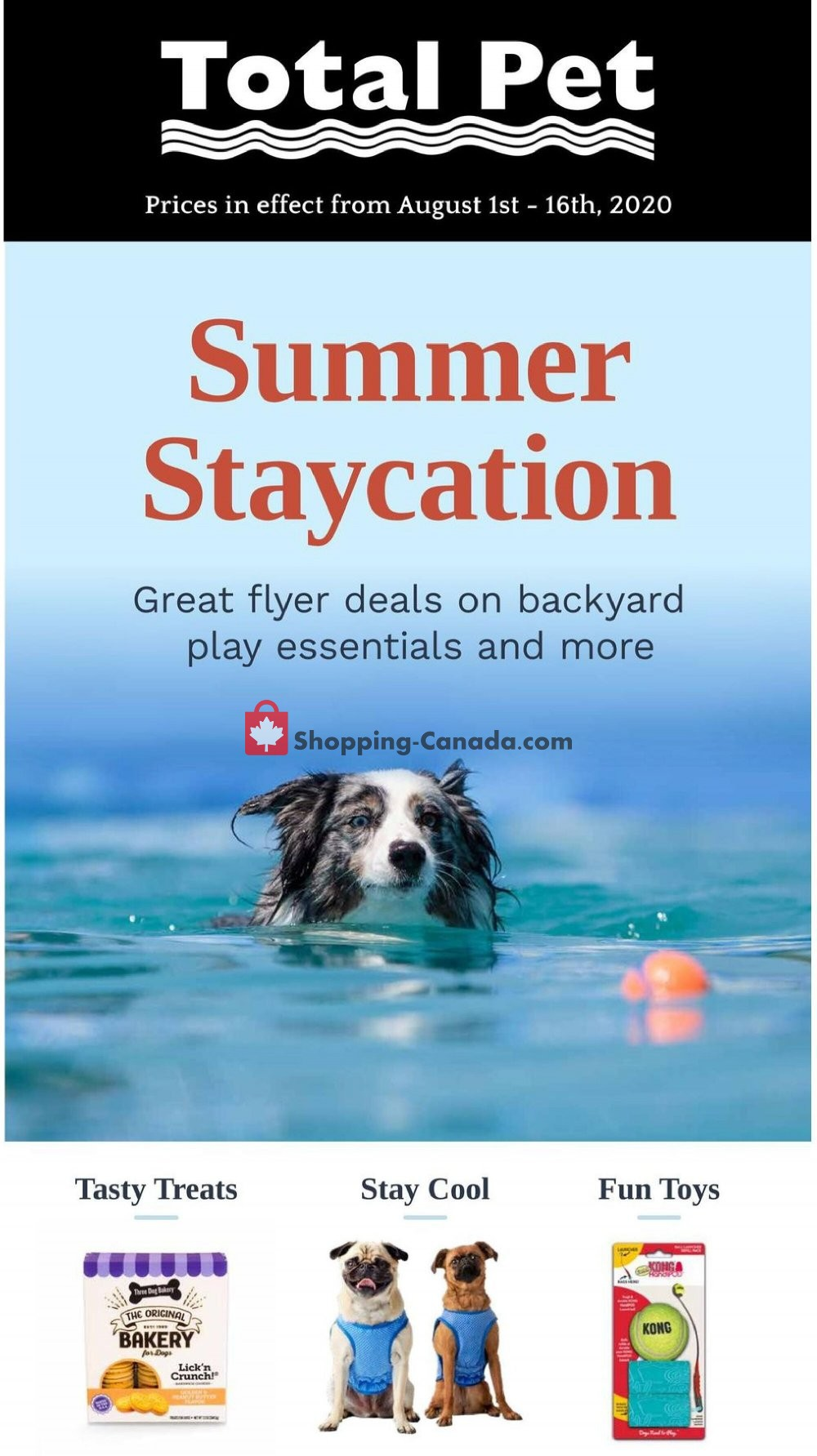 Flyer Total Pet Canada - from Saturday August 1, 2020 to Sunday August 16, 2020