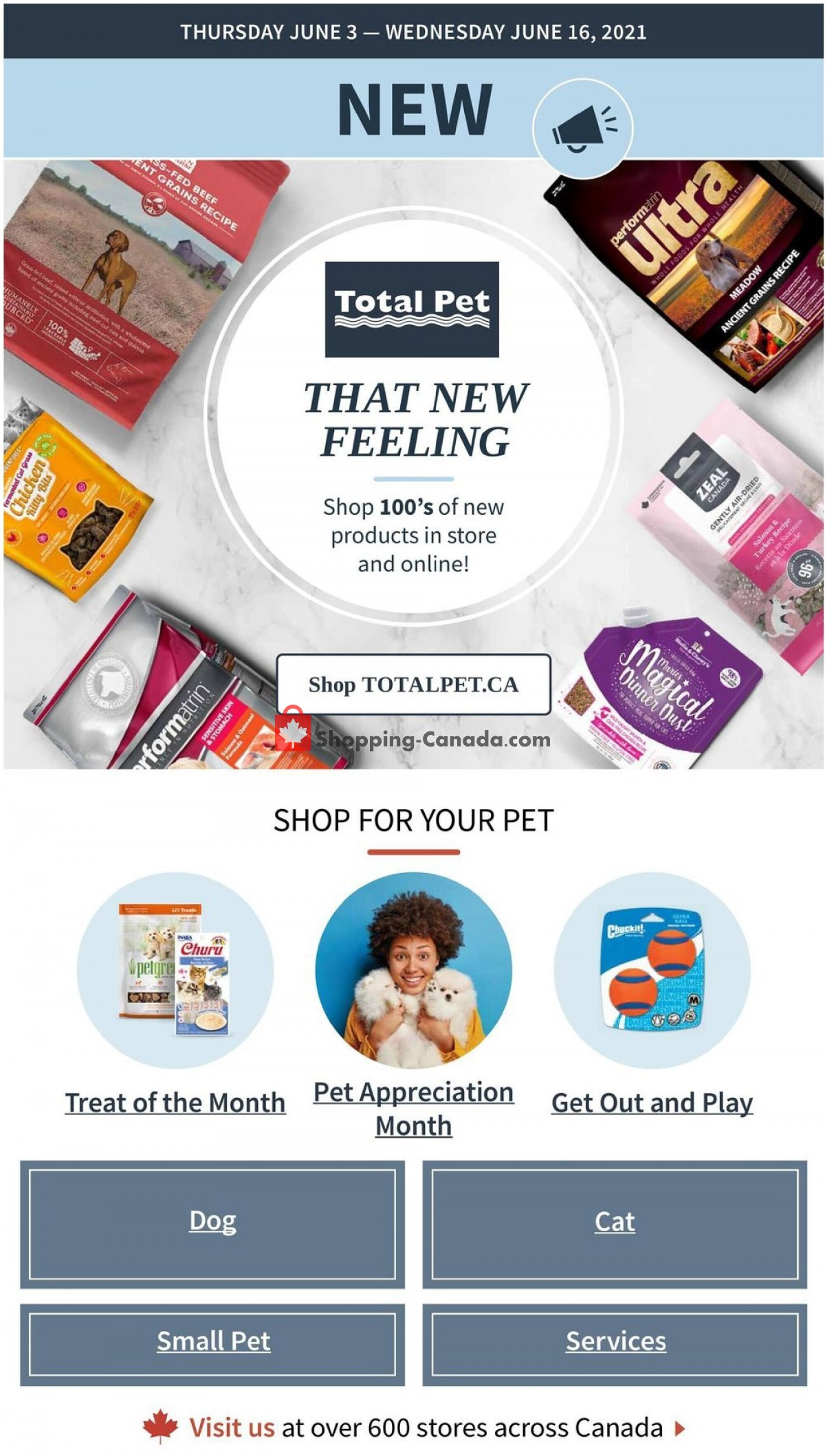 Flyer Total Pet Canada - from Thursday June 3, 2021 to Wednesday June 16, 2021