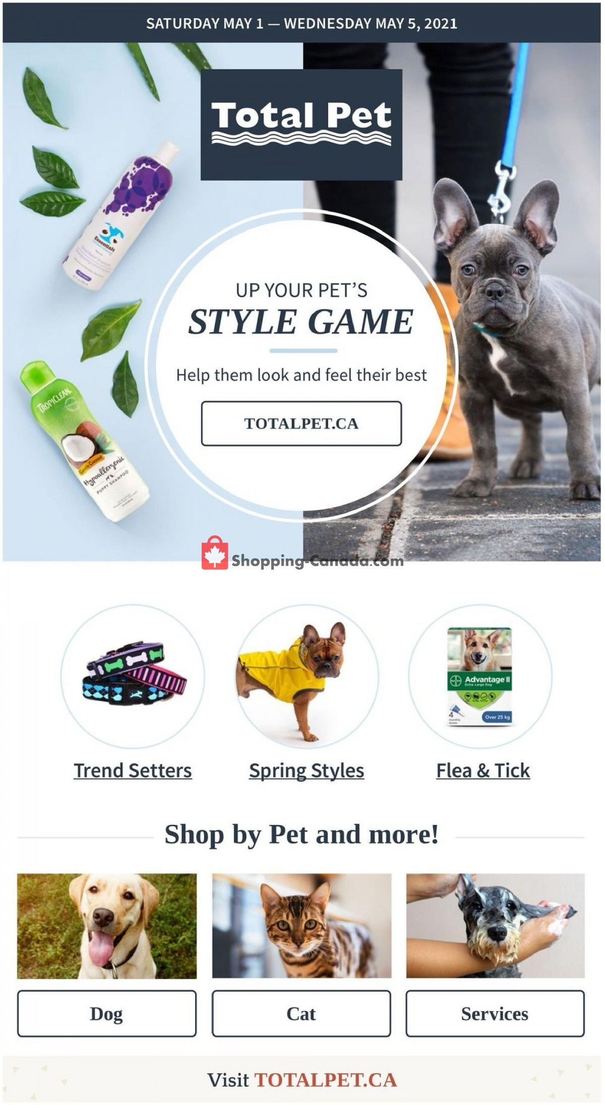 Flyer Total Pet Canada - from Saturday May 1, 2021 to Wednesday May 5, 2021